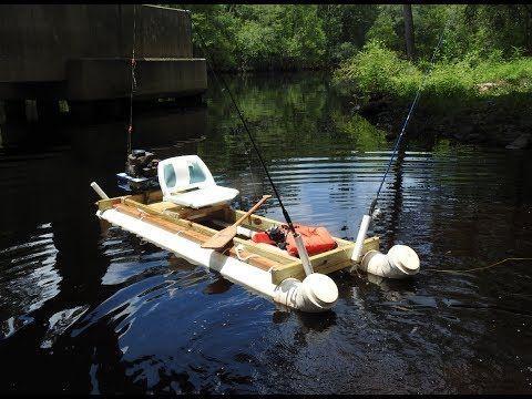 Komfortní ponton z odpadních PVC trubek