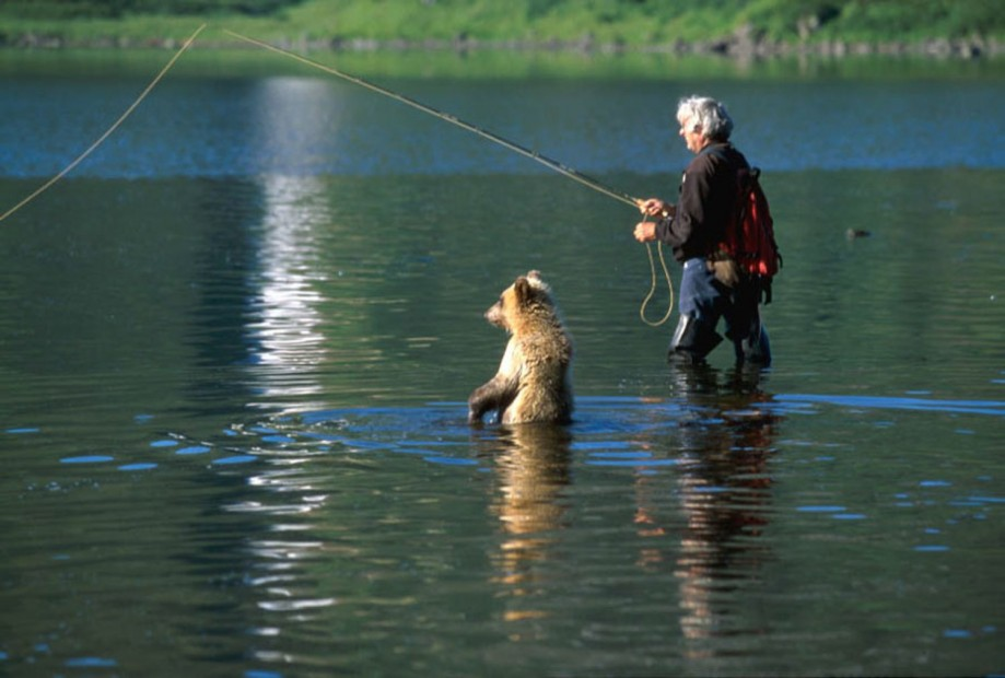 S parťákem na rybách...